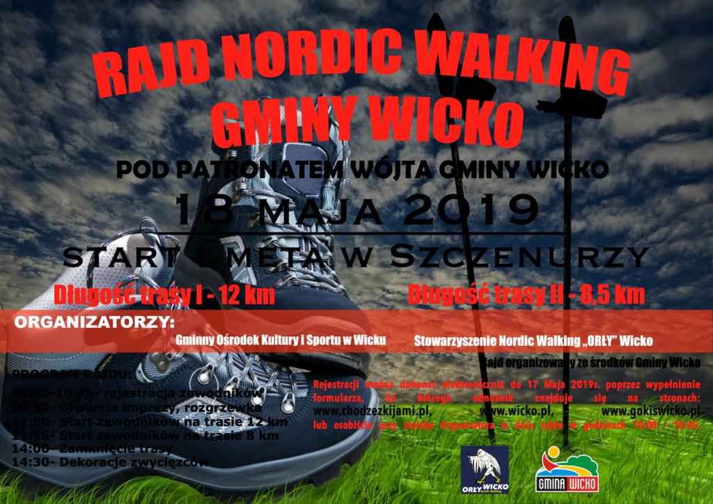 Harmonogram dowozu dzieci na Nordic Walking w Szczenurzy - sobota,18 maja 2019